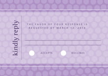 custom response cards - lilac - swiss dots (set of 10)