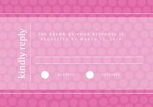 custom response cards - bright pink - swiss dots (set of 10)
