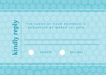 custom response cards - bahama blue - swiss dots (set of 10)