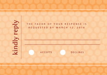 custom response cards - tangerine - swiss dots (set of 10)
