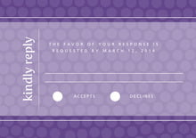 custom response cards - purple - swiss dots (set of 10)