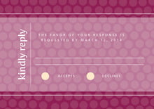 custom response cards - burgundy - swiss dots (set of 10)