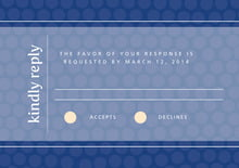 custom response cards - deep blue - swiss dots (set of 10)