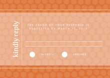 custom response cards - spice - swiss dots (set of 10)