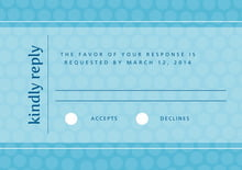 custom response cards - sky - swiss dots (set of 10)