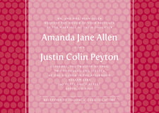 custom invitations - deep red - swiss dots (set of 10)