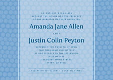 custom invitations - blue - swiss dots (set of 10)