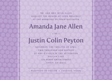custom invitations - lilac - swiss dots (set of 10)