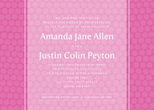 custom invitations - bright pink - swiss dots (set of 10)