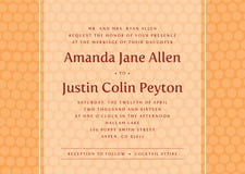 custom invitations - tangerine - swiss dots (set of 10)