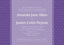custom invitations - purple - swiss dots (set of 10)