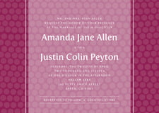 custom invitations - burgundy - swiss dots (set of 10)