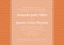 custom invitations - spice - swiss dots (set of 10)