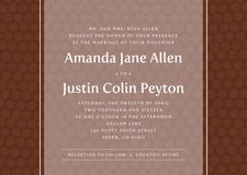 custom invitations - chocolate - swiss dots (set of 10)
