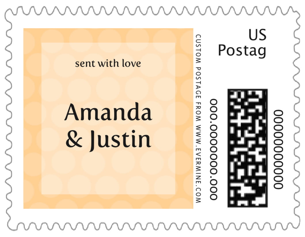 small custom postage stamps - sunburst - swiss dots (set of 20)