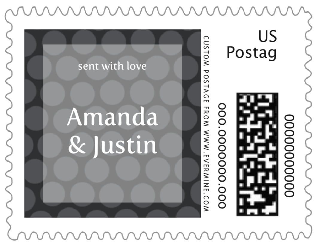 small custom postage stamps - tuxedo - swiss dots (set of 20)