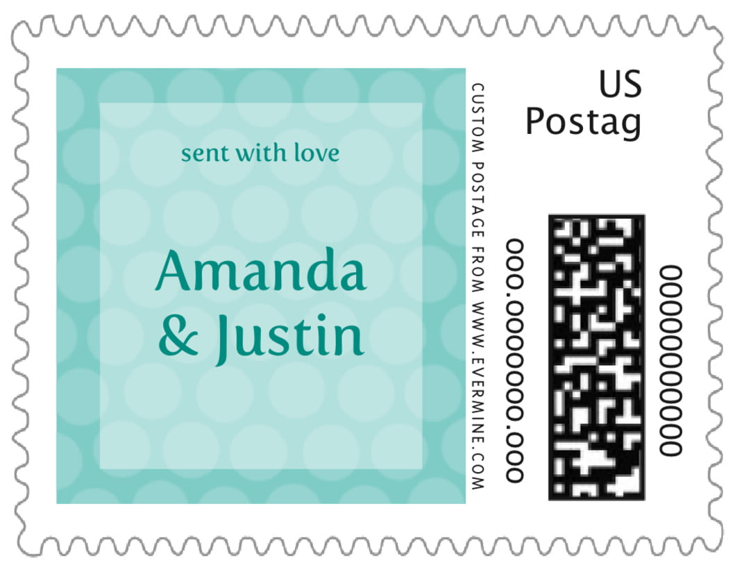 small custom postage stamps - aruba - swiss dots (set of 20)