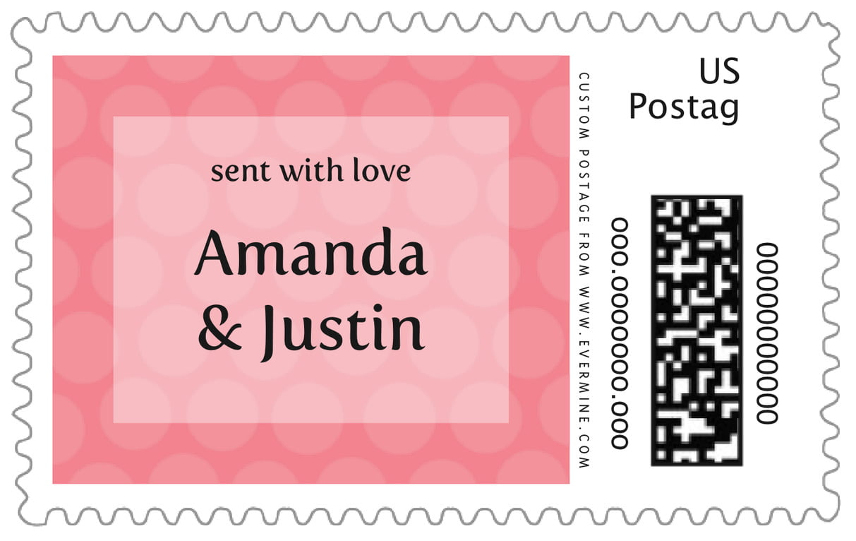 custom large postage stamps - grapefruit - swiss dots (set of 20)