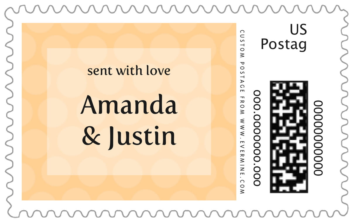 custom large postage stamps - sunburst - swiss dots (set of 20)
