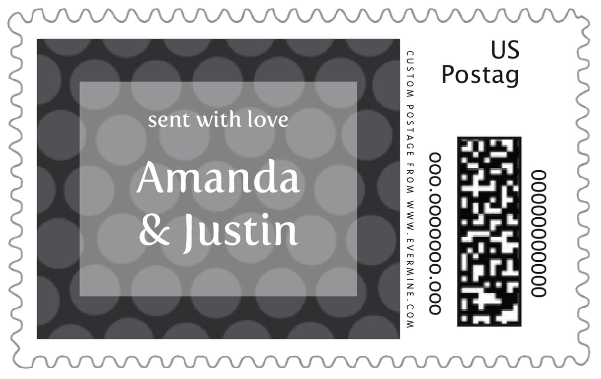 custom large postage stamps - tuxedo - swiss dots (set of 20)