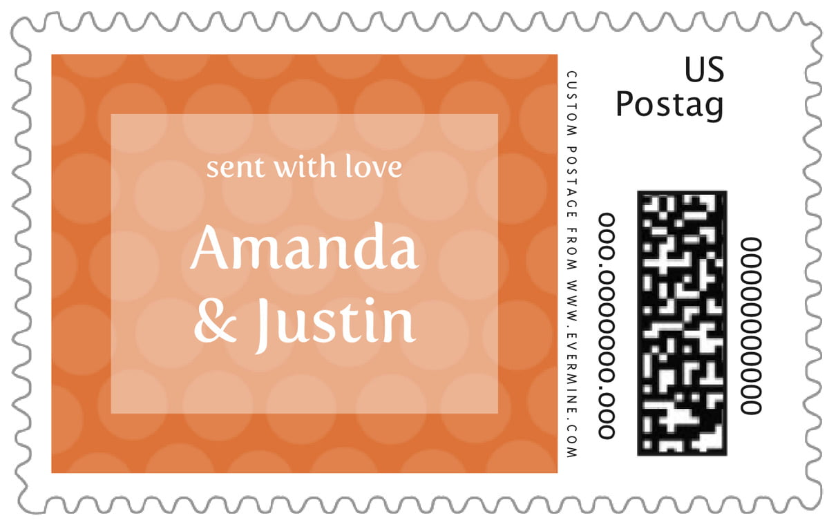 custom large postage stamps - spice - swiss dots (set of 20)