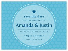 Swiss Dots save the date cards