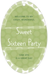 Swiss Dots large oval hang tags