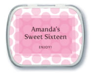 Swiss Dots Mint Tin In Pale Pink