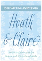Snowflakes Drift tall rectangle labels