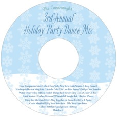 Snowflakes Drift christmas CD/DVD labels