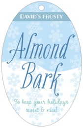 Snowflakes Drift large oval hang tags