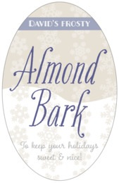 Snowflakes Drift tall oval labels
