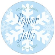 Snowflakes Drift large circle labels
