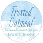 Snowflakes Drift christmas labels