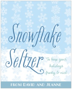 Snowflakes Drift large labels