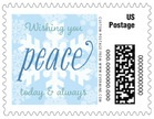 Snowflakes Drift small postage stamps