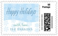 Snowflakes Drift large postage stamps