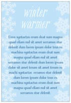 Snowflakes Drift text labels