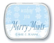 Snowflakes Drift Mint Tin In Ice Blue