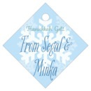 Snowflakes Drift small diamond hang tags