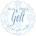 Snowflakes Drift scallop hang tags