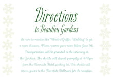 custom enclosure cards - mint green - snowflakes drift (set of 10)