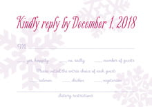 custom response cards - lilac - snowflakes drift (set of 10)