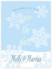 Snowflakes Drift save the date cards