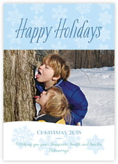 Snowflakes Drift photo cards - vertical
