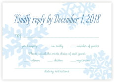 Snowflakes Drift response cards