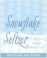 Snowflakes Drift food/craft labels