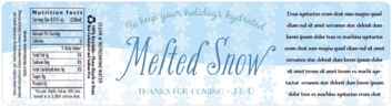 Snowflakes Drift bottled water labels