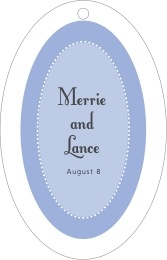 Summer Garden large oval hang tags