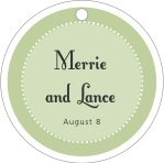 Summer Garden circle hang tags